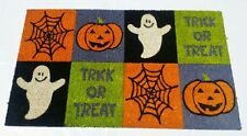 "Natural Coir Fiber, 18x30"" Outdoor Doormat  - Trick orTreat Special Hallooween"
