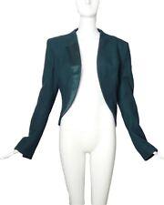 HAIDER ACKERMANN-Green Wool & Silk Jacket, Size-8