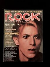 1976 Rock Magazine ~ David Bowie ~ Kiss, Zeppelin, The Who ~ Nice Condition!