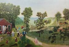 Vintage Original 1948 Art Print ~ Grandma Moses ~ Mary And The Little Lamb