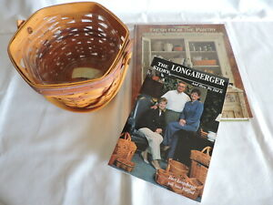 Longaberger Book and Cookbook and Signed Six-Sided Basket