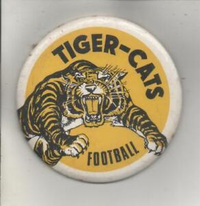 "Vintage CFL Hamilton Tiger-Cats Pinback Button 3 1/2"""