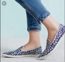 Bettye Muller Anthropologie Ivy Leather Pointy Toe Flats Sneakers Women 10 Navy