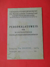 LVOV, Lemberg 1944 Occupation of UKRAINE.  Document ID with photo for work
