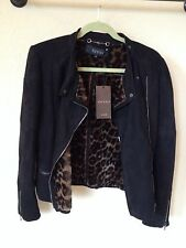 Authentic Gucci Shearling Lamb Fur And Suede Leather Women's Winter Jacket, NWT