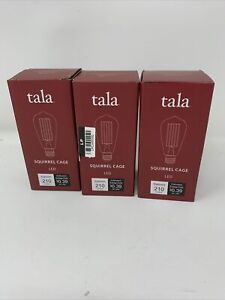 Lot of 3 Tala Squirrel Cage LED Light Bulb 210 Lumens  Pottery Barn (1-24)