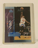 Tim Hardaway Autograph 1998 Upper Deck AeroDynamics Card Miami Heat Signed Blue