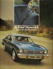 Ford Maverick 1976 Canadian Market Foldout Sales Brochure 2-dr 4-dr Sedan