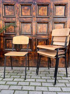 1/14 Stapelstühle Stuhl Industrie Design Loft Cafe Bar Bistro SALE