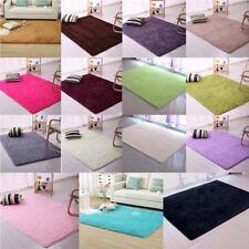 Shaggy Fluffy Rugs Anti-Skid Bedroom Dining Area Rug Carpet Floor Mat For Xmas
