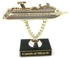 Carnival Cruise Lines Gold Ship on a Stick Trophy - Miracle
