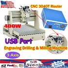 3Axis CNC 3040 Router Engraver Wood Carving Mill Machine VFD 3D Cutter USB Port