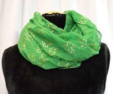 St. Patricks Day Shamrock Infinity Scarf - Green