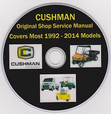 Cushman 1992-2014 - 3 & 4 Wheel  FACTORY SERVICE REPAIR SHOP,MAINTENANCE MANUAL