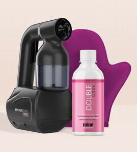Mine Bronze Babe Personal Home Airbrush Streak-Free Body Spray Tan Kit in Black