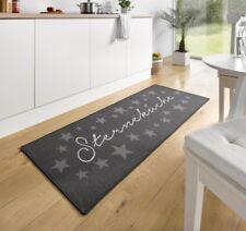 Design Velours Küchenläufer Sterneküche Grau 67x180 cm