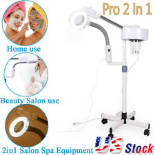 2 In 1 5X Magnifying Facial Steamer Lamp Hot Ozone Beauty Machine Spa Salon US
