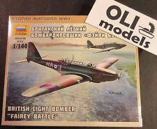 1/144  British Light Bomber FAIREY BATTLE  - Zvezda 6218