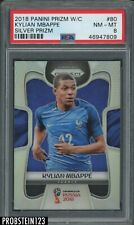 2018 Panini Silver Prizm World Cup Soccer #80 Kylian Mbappe RC Rookie PSA 8