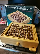 Labyrinth Wooden Maze Vintage Board Game Boxed