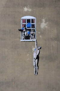 Banksy Mural Poster Reproduction Paintings Giclee Canvas Print