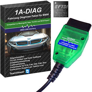 USB - K+DCAN PRO Diagnose Gerät 1A-DIAG für BMW INPA Rheingold ISTA NCSEXPERT