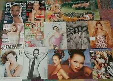 210+ Kate Moss clippings,  covers,  rare,  90s