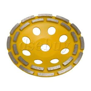 7 inch Dia Concrete Grinding Cup Wheel Yellow for Processing Granite Marble