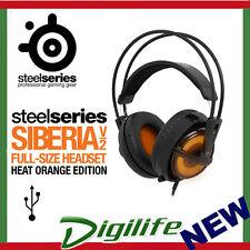 SteelSeries Siberia v2 Full Size Multipurpose USB Gaming Headset Heat Orange