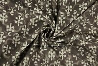 Cotton Grey Dabu Indian Hand Block Print Sewing Material Craft By The Yard