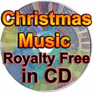 Christmas Music Royalty Free Ambient Background Song Tracks Instrumental +Pic CD