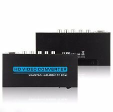 Analog VGA/Component to Digital HDMI Adaptor VGA/YPbPr+Audio to HDMI Converter