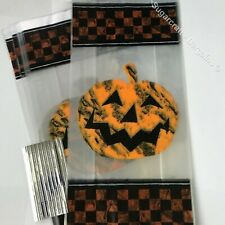 20 x PUMPKIN HALLOWEEN  CELLO BAGS Candy Treat Party Gift Sweet JACK O' LANTERN