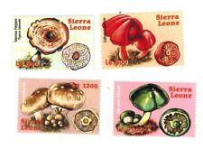 MODERN GEMS - Sierra Leone - Mushrooms - Set of 4 Stamps - MNH