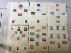 Lot 64 Album pages  - Early Spain Spanish mounted mint stamps