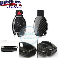 Mercedes Keyless Remote FOB Shell Holder Case Fit C E S M Class -Carbon Fiber