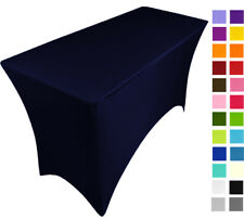 NAVY BLUE spandex stretch cover tablecloth for 4ft foot table 120X75X75
