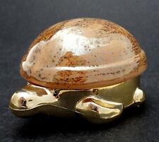 Avon Turtle Sweet Honesty 1970s Cream Perfume Glass Shell Lid Empty Vanity Vtg