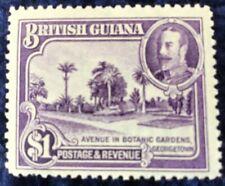 BRITISH GUIANA 1934 SG 300  $1 Definitive Mounted Mint Cat £50 In 2016.