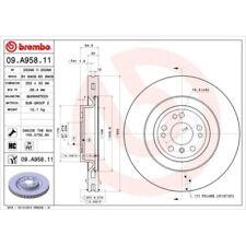 2 Bremsscheibe BREMBO 09.A958.11 COATED DISC LINE passend für MERCEDES-BENZ