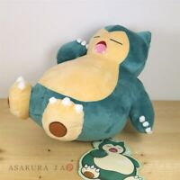 Pokemon Center Original Snorlax's yawn Plush doll From Japan