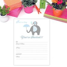 Boy Baby Shower Invitations with Elephant
