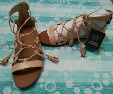 Zara Damen Sommer Schuhe Römer Luxury Sandalen Echtes Leder Nude/Beige Gr.38