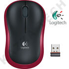 Logitech NEW M185 RED Wireless Optical Mouse Compact for PC Laptop MAC Linux