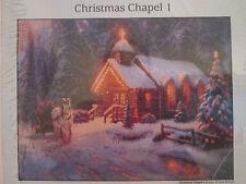 Candamar CHRISTMAS CHAPEL I Cross Stitch Kit #51654 ~ Kinkade ~ Sealed