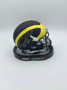 Desmond Howard Signed Schutt Michigan Mini Helmet 91 Heisman COA Hologram
