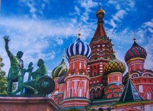 "Jigsaw Puzzle International Saint Basil's Cathedral Moscow 500 piece NEW 19""x14"""