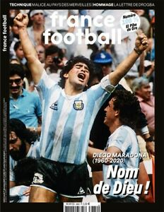 COLLECTOR FRANCE FOOTBALL HOMMAGE DIEGO MARADONA EL PIBE DE ORO NEUF 01/12/2020