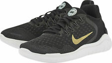 New Nike Free RN 2018 Running Shoes 942837-008 Women's Size 6 Black/Gold/Grey