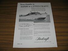 1950 Print Ad Steelcraft Deluxe Sedan 28' Cabin Cruiser Boats West Haven,CT